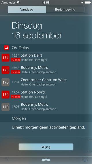 OV Delay openbaar vervoer app