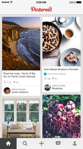 apps voor iPhone 6 Pinterest