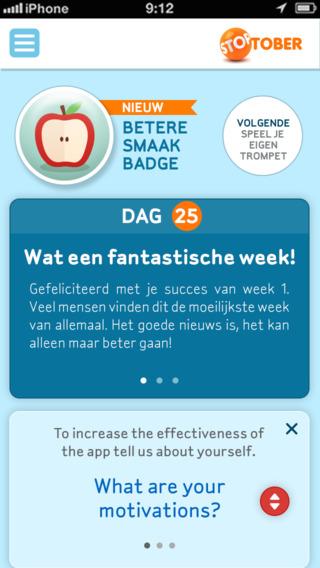 Stoptober succes halen met roken iPhone