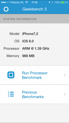 iPhone 6 benchmark