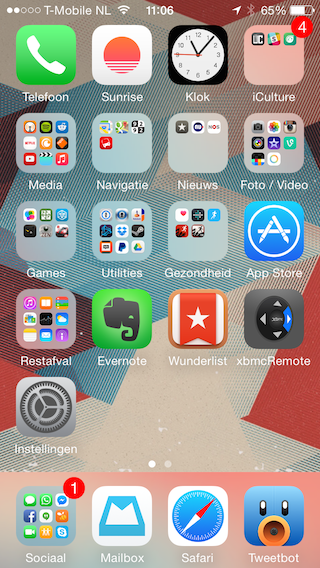 Homescreen iPhone 6 zoom