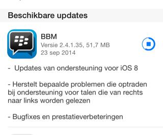 BBM opnieuw downloaden App Store iOS 8