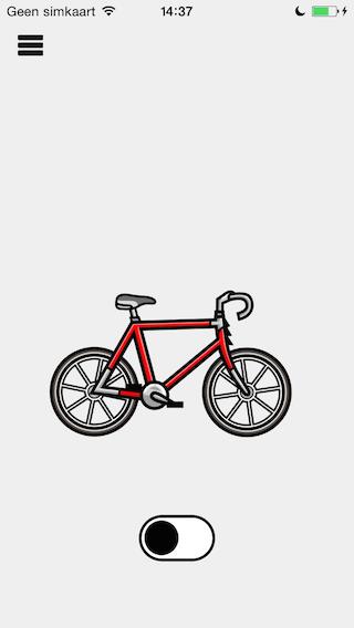 Fietsmodus op de fiets stappen