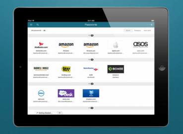 Dashlane Password Manager voor iPhone en iPad is direct te benaderen vanuit Safari en andere apps, en te openen met je vingerafdruk.