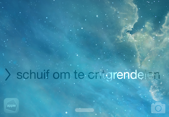 iOS 8 app ontgrendelscherm
