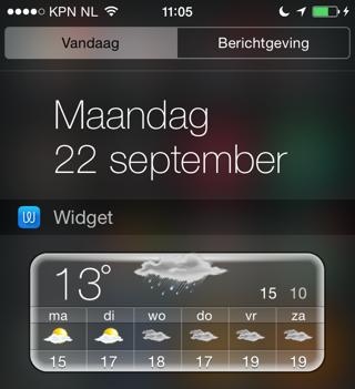 Weer widgets iOS 8 Widget