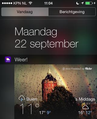 Weer widgets iOS 8 Yahoo Weer