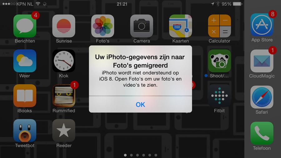 overstappen van iPhoto naar Foto-app