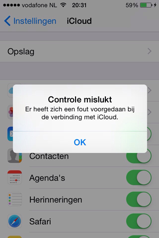 icloud-controle-mislukt
