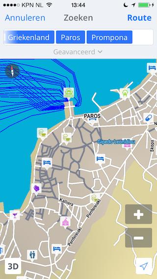 Sygic navigatie app kaart zoeken