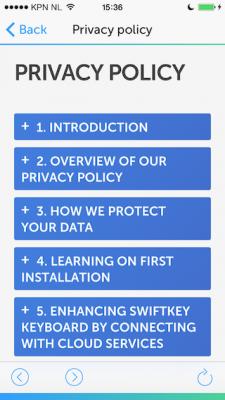 SwiftKey privacybeleid