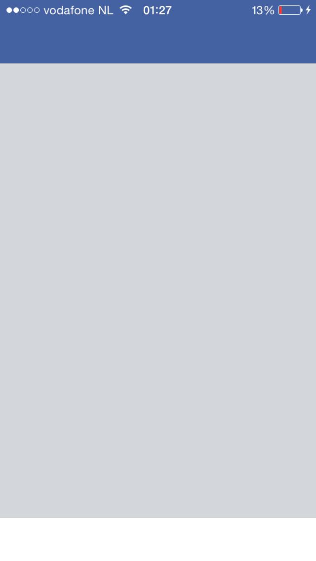 Facebook iOS 8 leeg scherm