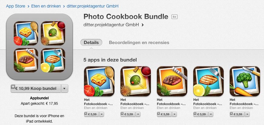 appbundels fotokookboek