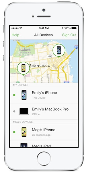 find my iphone family sharing