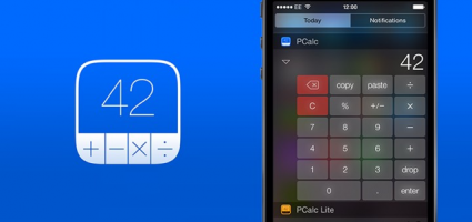 iOS 8 widget PCalc