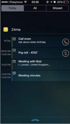 24me widget screenshots iPhone