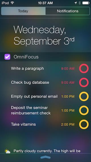 iOS 8 apps widgets OmniFocus 2