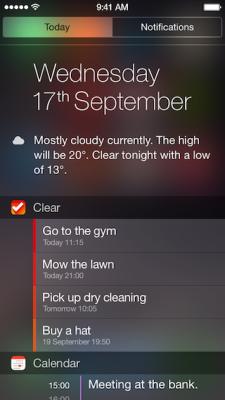 Clear iOS 8 widget