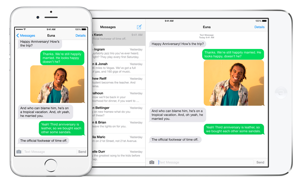 Coninuity sms iPad