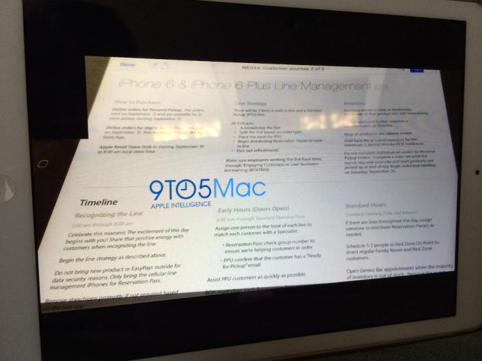 iPhone 6 strijdplan Apple Store