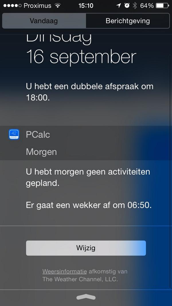 Widget Pcalc defect
