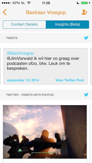 Tempo app review tweets en foto van Bas