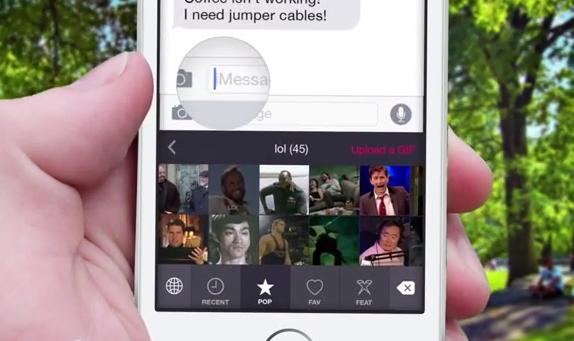PopKey GIF toetsenbord voor iOS 8