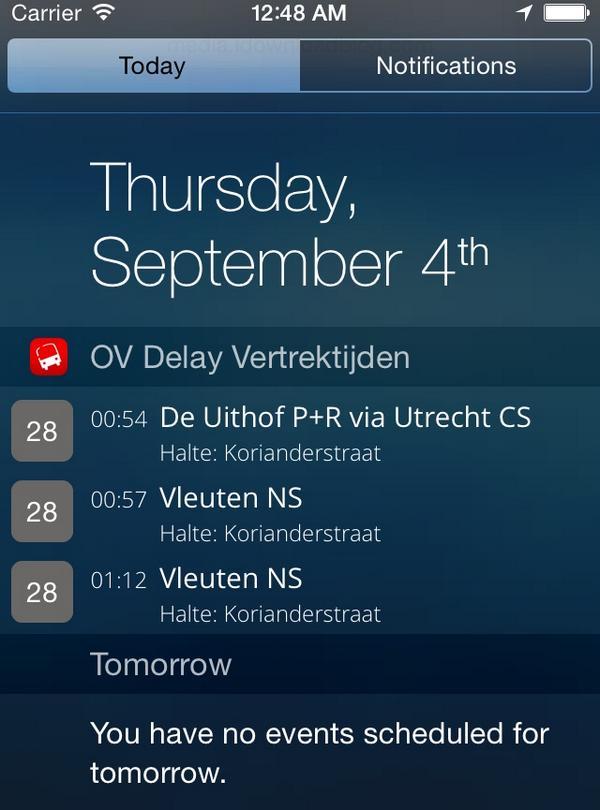 iOS 8 widgets iPhone