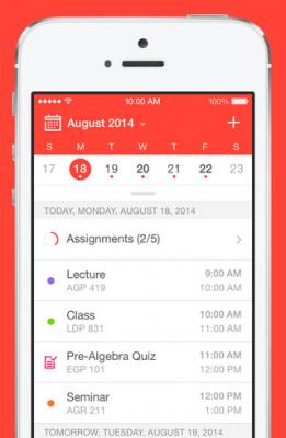 Schoolhub Students agenda iPhone