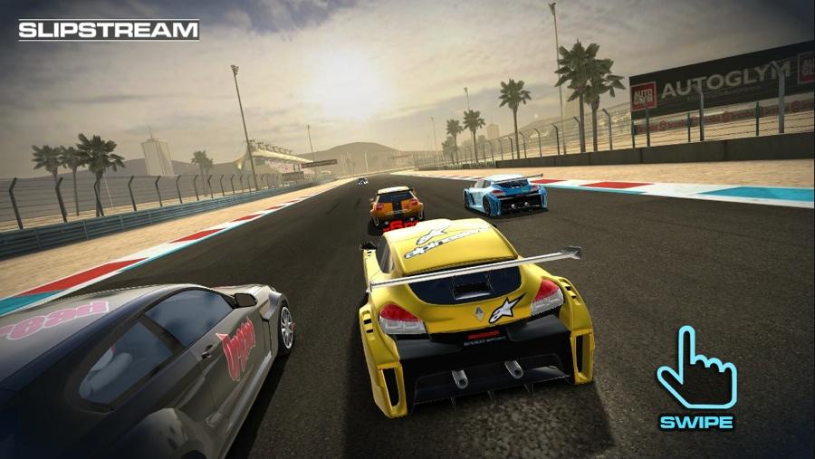 Race Team Manager vegen en slipstream