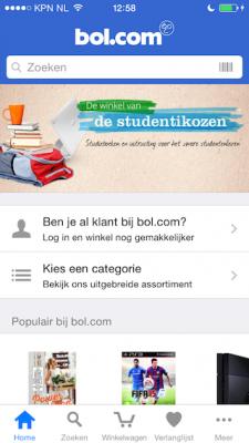 Bol.com hoofdpagina