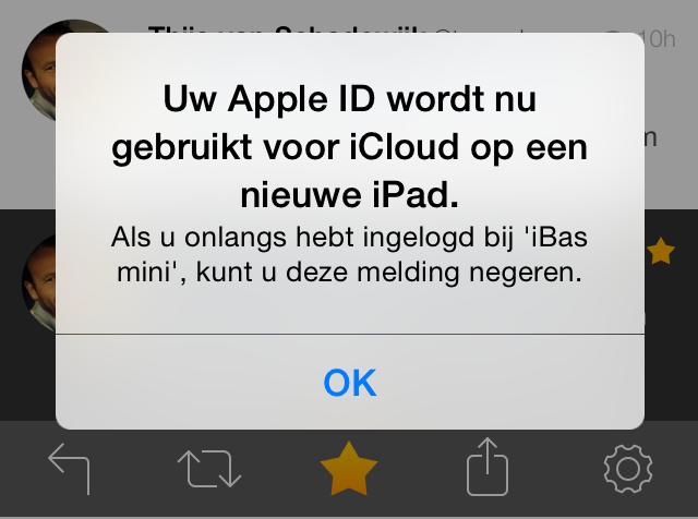 iOS 8 push icloud login
