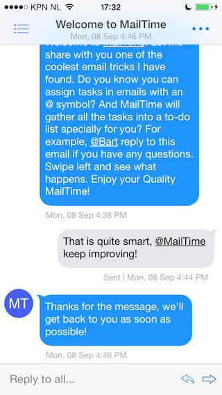 MailTime conversatieweergave