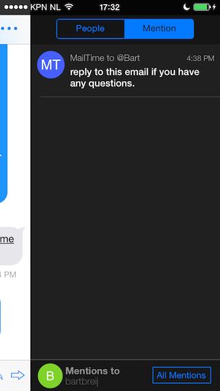 MailTime taak maken