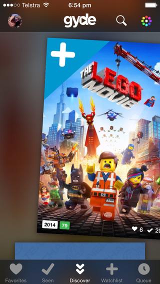 Gyde Tinder voor films Lego movie