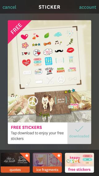 Fuzel Collage 3.0 stickers gebruiken