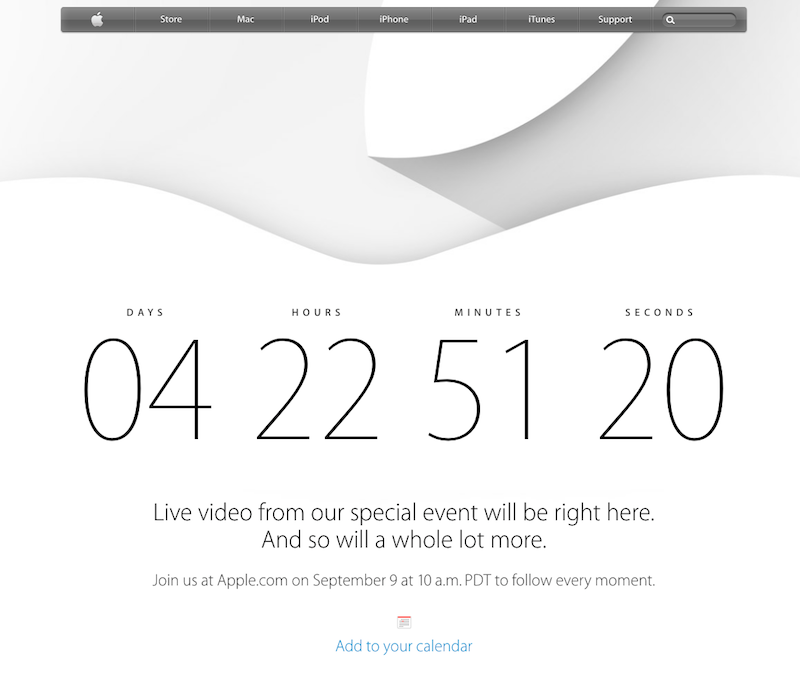 Apple livestream 9-9-2014