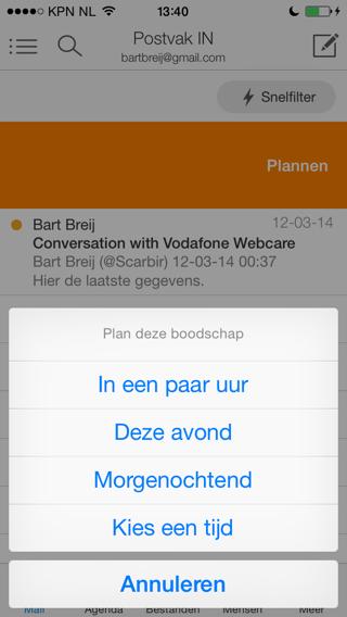 Acompli moment voor uitgestelde e-mail iPhone
