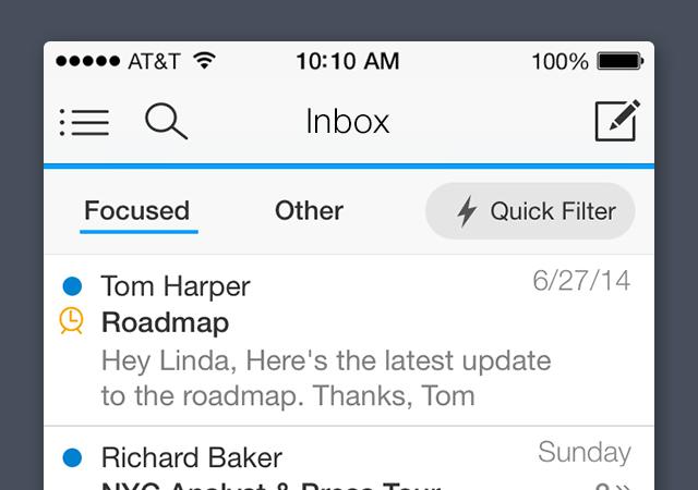 Acompli gefocuste inbox iPhone