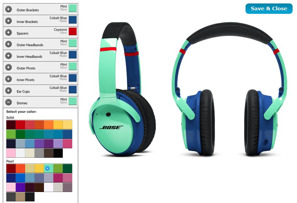 Bose laat je eigen quietcomfort hoofdtelefoon ontwerpen for Je eigen slaapkamer ontwerpen
