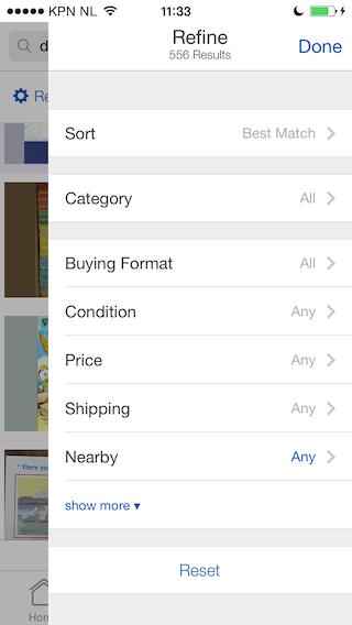 eBay resultaten zoeken iPhone