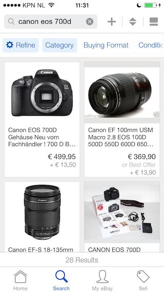 eBay Canon EOS 700d kopen