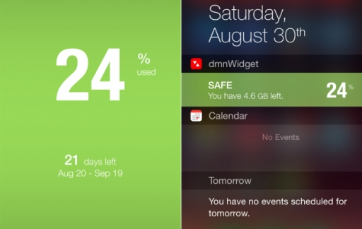 Dataman iOS 8 widget