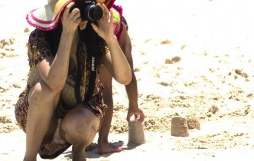 foto strand onderbroek