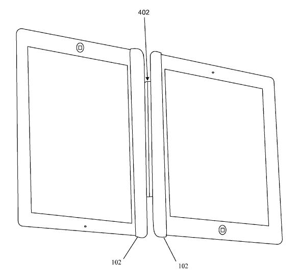 Smart Cover twee iPads patent