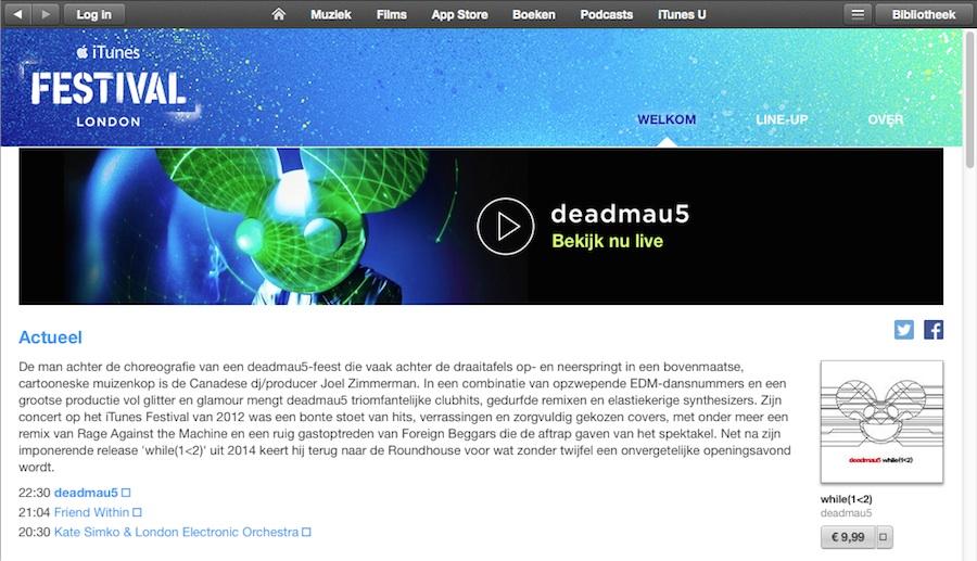 itunes festival desktop