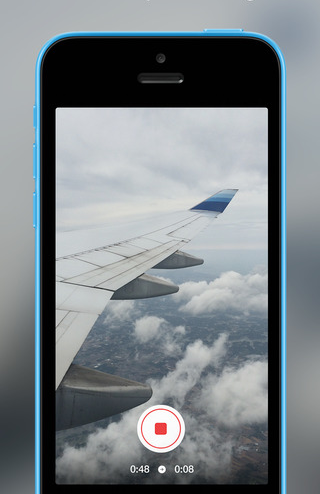 Hyperlapse vliegtuigvleugel iPhone