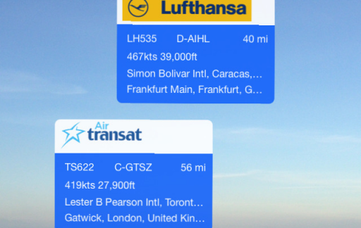 Plane Finder iPhone update iOS
