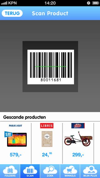 PLUX streepjescode scannen