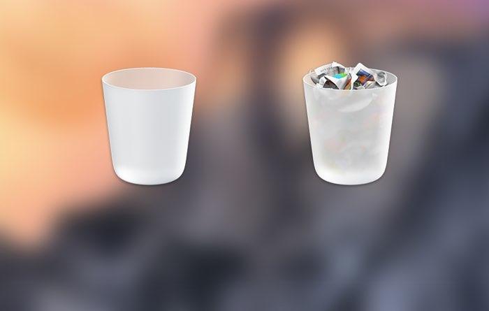 Prullenbak-icoon op de Mac